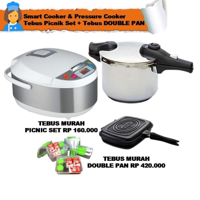 smart cooker & pressure cooker tebus picnik set + tebus double pan