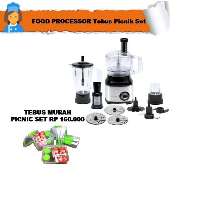 food processor tebus picnik set
