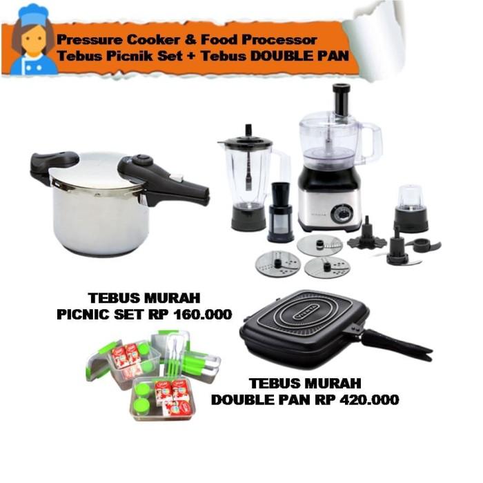food processor & pressure cooker tebus picnik set + tebus double pan
