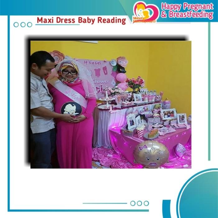 Jual Baju Hamil Modis Maxi Dress Babyreading Daster Gamis Ibu Hamil