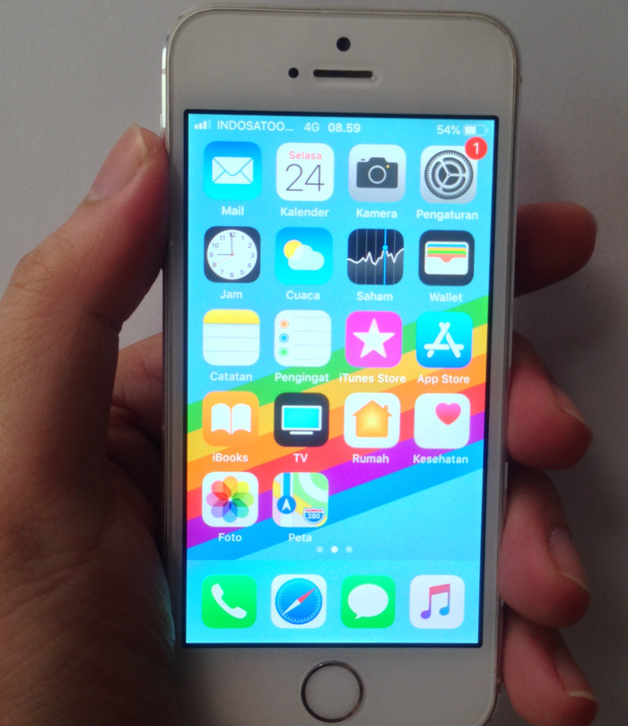 Jual HP Second iPhone 5S-4G Silver 32GB Ex iBox Resmi 99% Mulus LIKE ... 4307a8400e