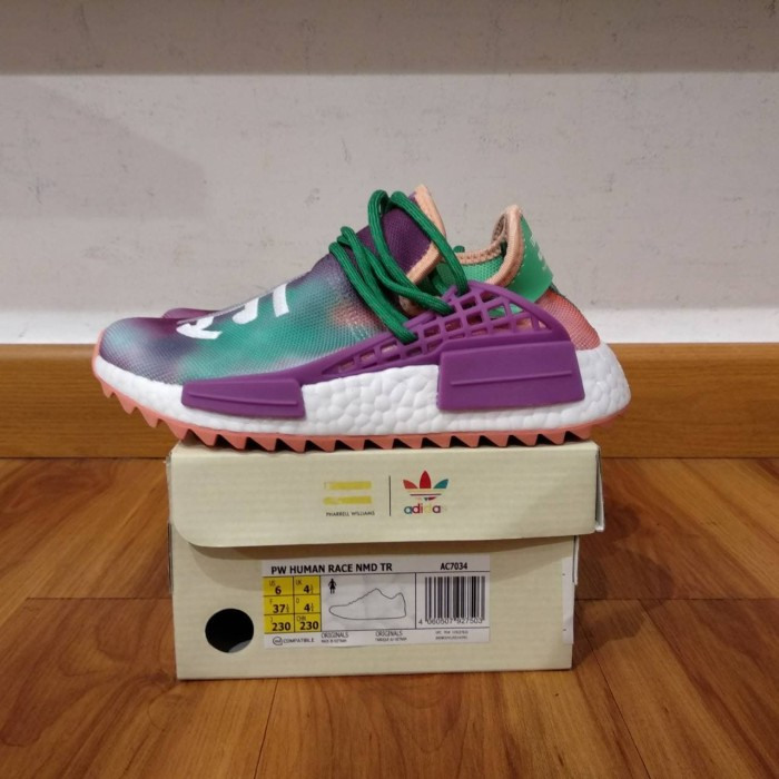 9d4018bc64872 Jual Adidas NMD HU Trail Holi Coral x Pharrell William UA Original ...