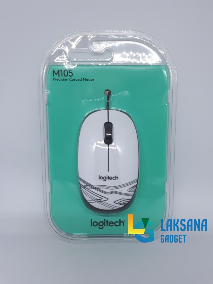 Mouse Kabel Logitech M105 - Hitam