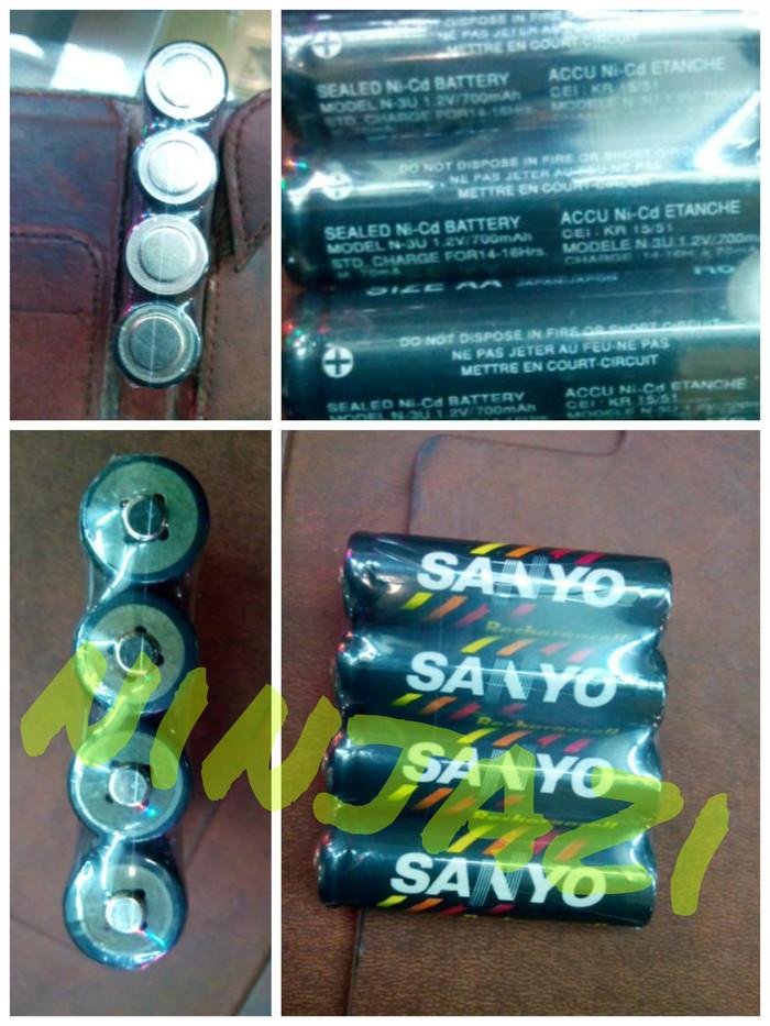 batre recharge ukuran AA sanyo (4pc) 1.2 volt (china import)