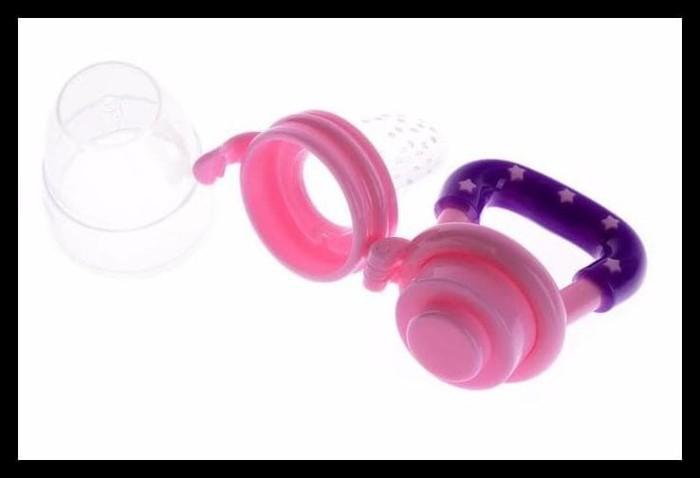Fruit Food Pacifier Dot Buah Empeng Bayi Baby Juice Feeding - M Biru