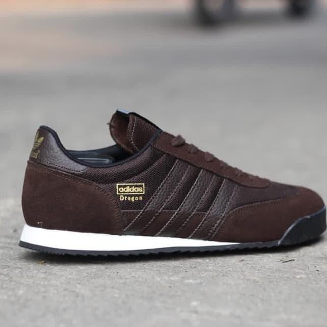 adidas dragon brown leather