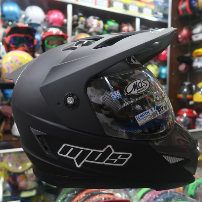 harga Helm full face mds super pro solid black doff Tokopedia.com