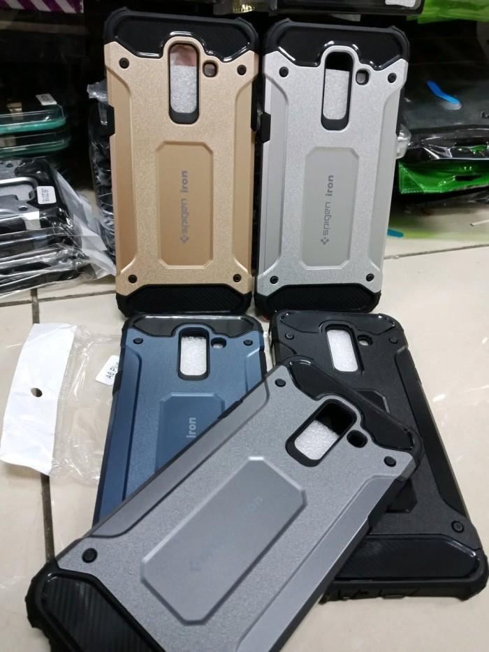 meet e0d07 81695 Jual Samsung Galaxy A6 Plus 2018 Spigen Iron Rugged Slim Armor Hard Case -  Hitam - DKI Jakarta - Xeba | Tokopedia