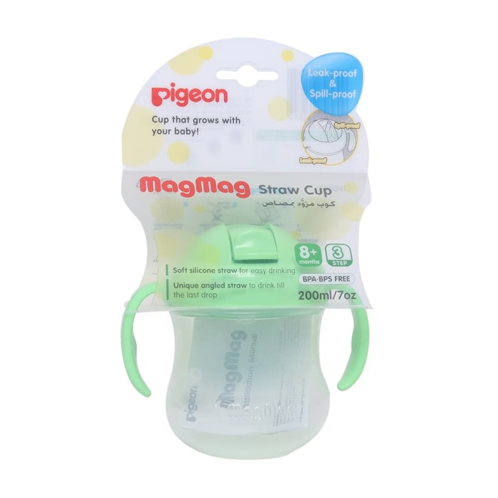 pigeon mag mag straw cup - import - green