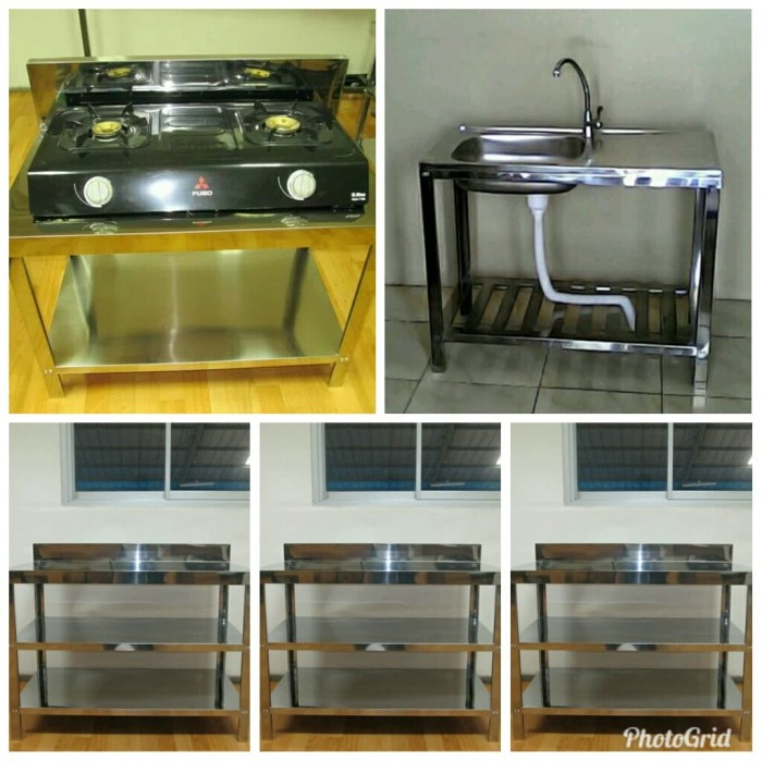 harga Paket kitchen set (1meja mt2 ; 3 meja mt3 dan kitchen sink plus kran) Tokopedia.com