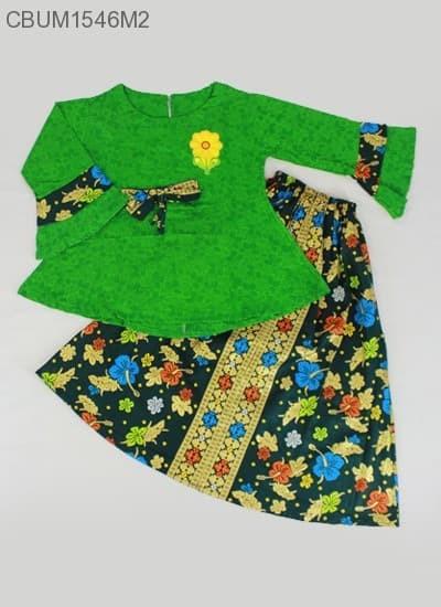 harga Setelan rok n blus batik panjang bahan katun anak warna hijau d182 Tokopedia.com