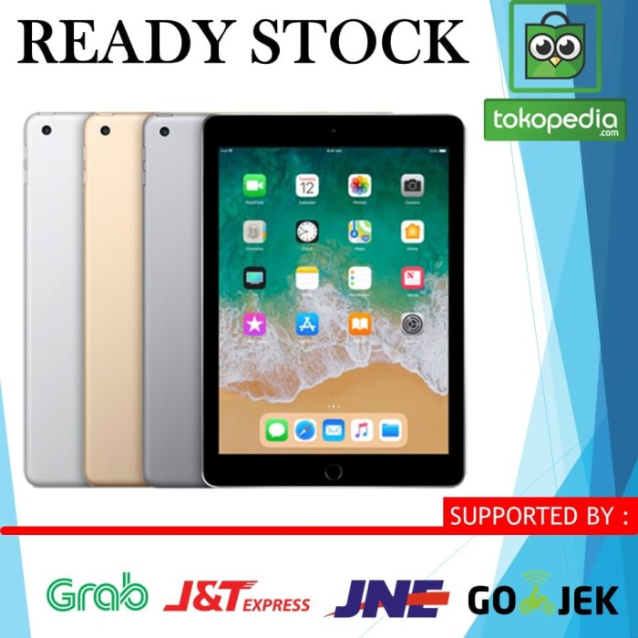 harga (ready)new ipad 6 128gb 128 gb wifi only gold / space gray grey Tokopedia.com
