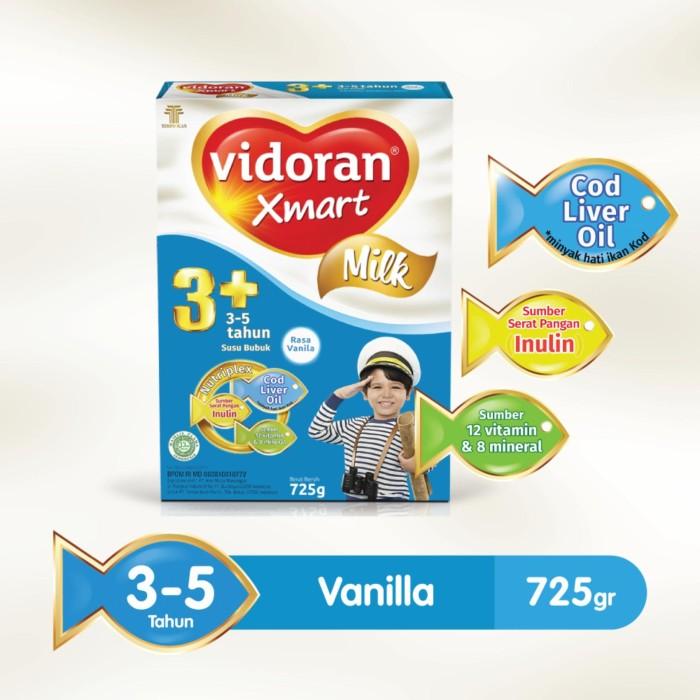 Vidoran Xmart 3+ Nutriplex Susu Formula - 725g - Vanila