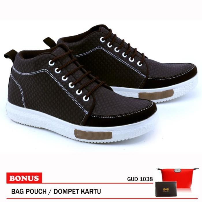 Garsel Sepatu Boots Pria GUD 1038 Coklat Tua