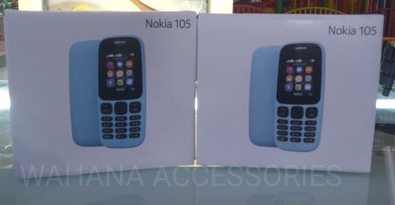 HP NOKIA 105 - BLACK & BLUE - Hitam