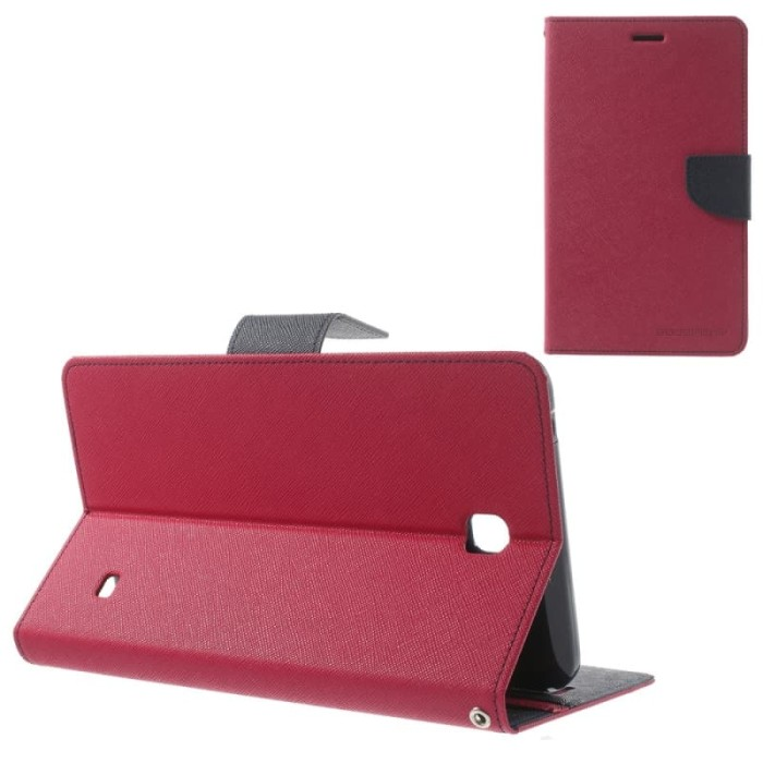 goospery samsung tab s2 9.7 t815 fancy diary case - hotpink navy