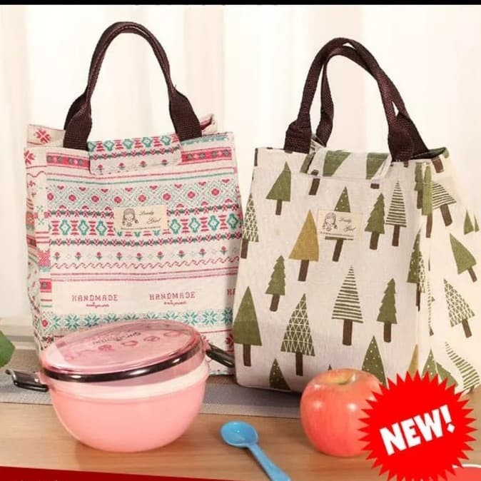 Foto Produk 002 insulated lunch bag cooler bag tas bekal kotak makan rantang lucu - A. LANDAK dari VAPOR LAB