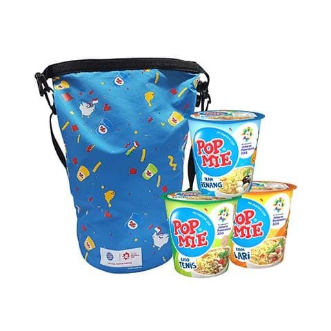 Pop Mie Edisi Asian Games 3 Pcs + Tas