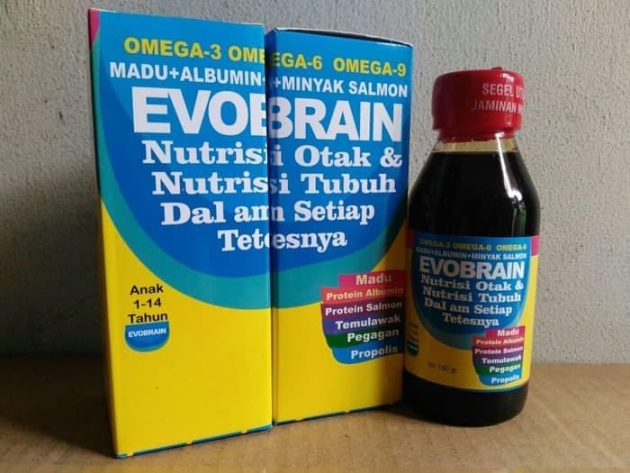 New Evobrain / Evo Brain - Madu Albumin Minyak Ikan Salmon Omega 3 6 9