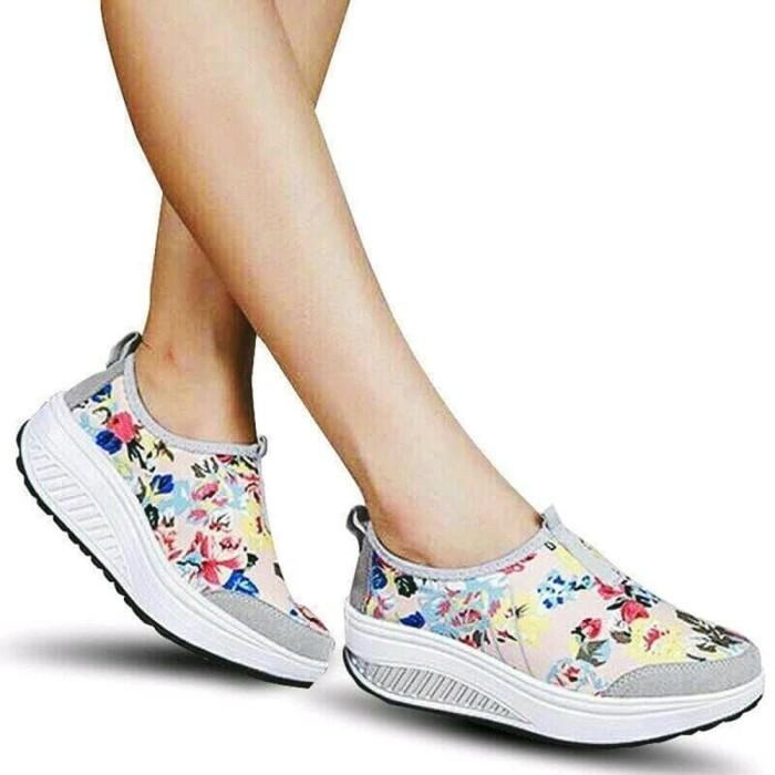Jual Slip On Motif Bunga Sepatu Tercantik Murah Jakarta Pusat Fourshop1 Tokopedia