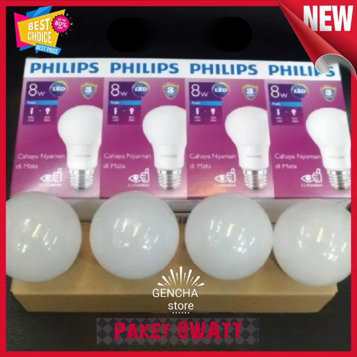 Jual Paket Lampu Philips Led Paket 3 Free 1 8w Warna Cool Daylight 8watt Kota Yogyakarta Gencha Fashion Tokopedia