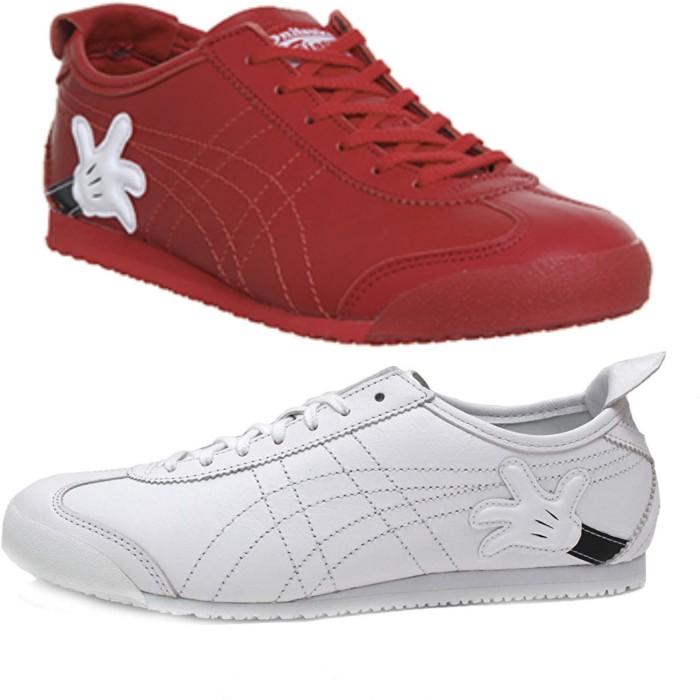 watch 62762 9c554 Jual sepatu sneaker asics onitsuka tiger mexico 66 mickey mouse - Putih, 37  - DKI Jakarta - sepatupremium15 | Tokopedia