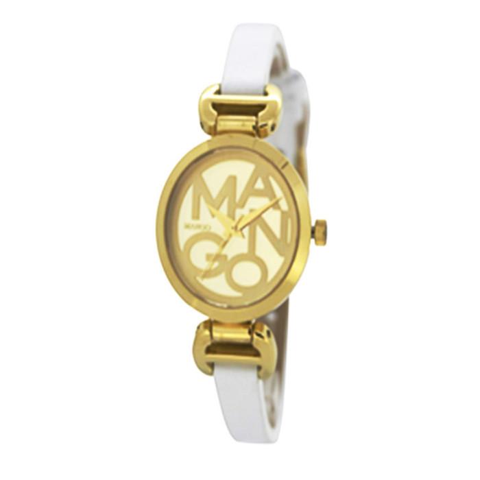 mango jam tangan wanita ma6598l-13k - white