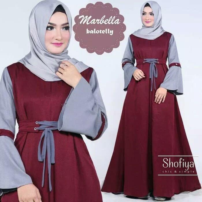 Jual Baju Gamis Muslimah Syari Dress Cantik Unik Pemutih Wajah