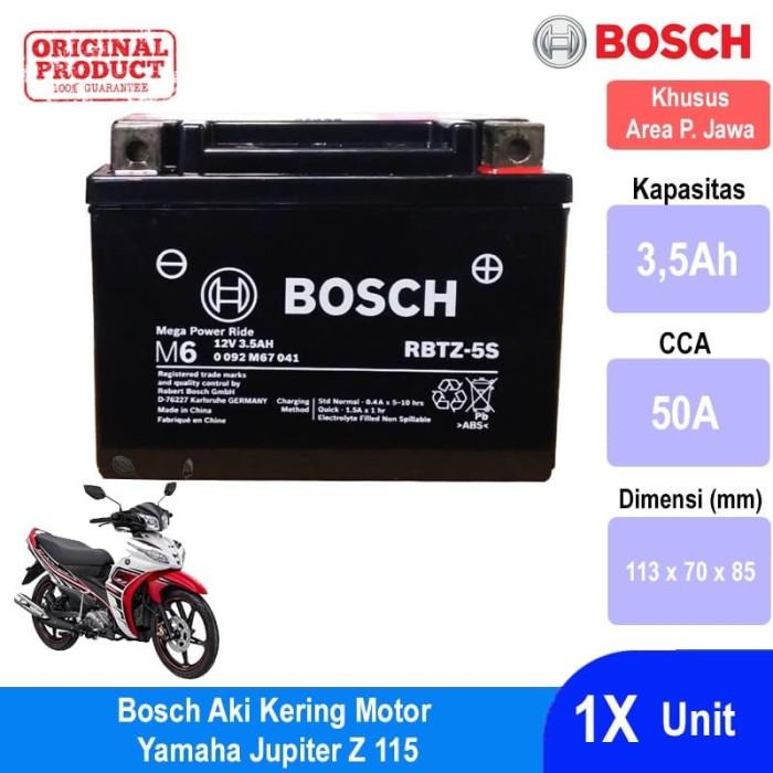 Bosch Aki Kering Motor Yamaha Jupiter Z 115 AGM RBTZ-5S - 0092M67041