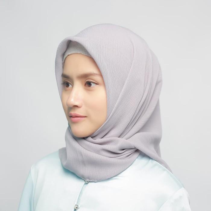 eclemix jilbab cornskin grey 2 abu muda scarf square segi empat - abu-abu muda