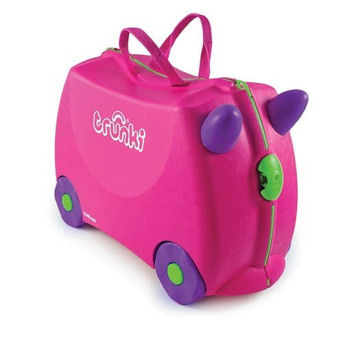 Tas Koper Anak Trunki Trixie Ride-On Suitcase Pink Original