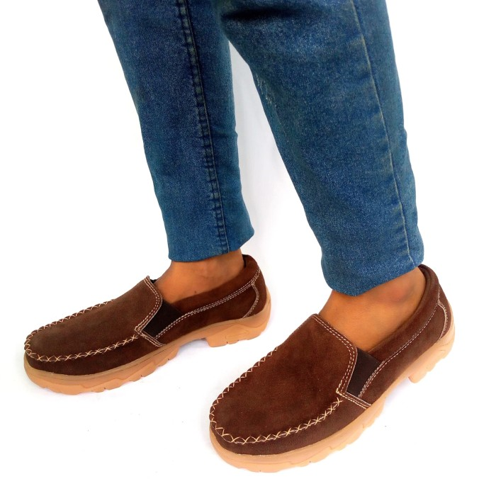Foto Produk Rasheda sepatu casual pria kulit asli 016 Big Size - Cokelat, 44 dari Rasheda Store