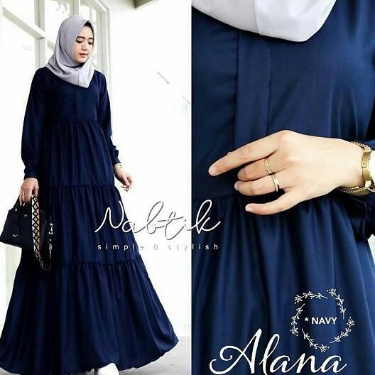 Foto Produk Dress Alana Busui wj Gamis Syari Maxi Dress Muslim Fashion Trendy dari MJM Fashion