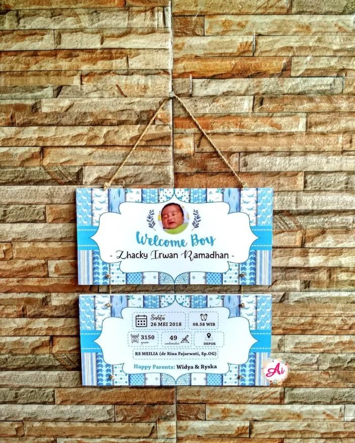 Foto Produk Hiasan Dinding Hadiah Data Bayi Baby Bio- Kado Biodata Bayi dari ai_decor