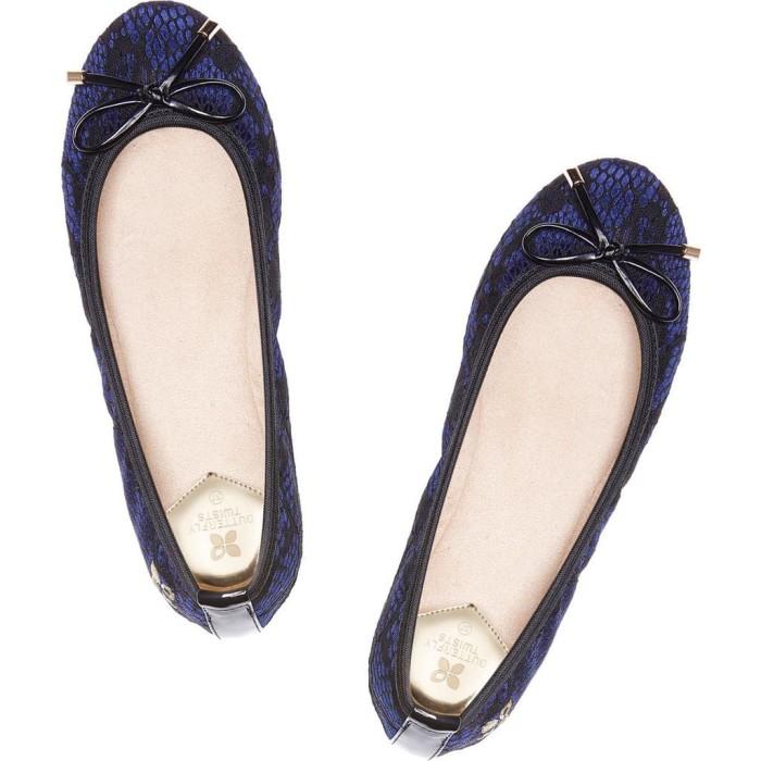 Sepatu Flat Shoes Wanita Butterfly Twists Sasha Midnight