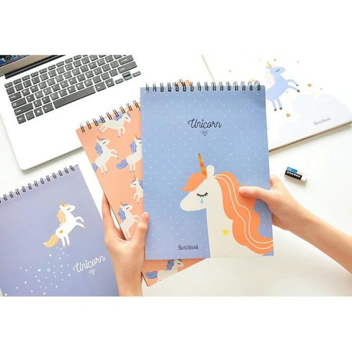 Jual Sketch Book Unicorn Buku Sketsa Motif Unicorn Lovelyyshopp