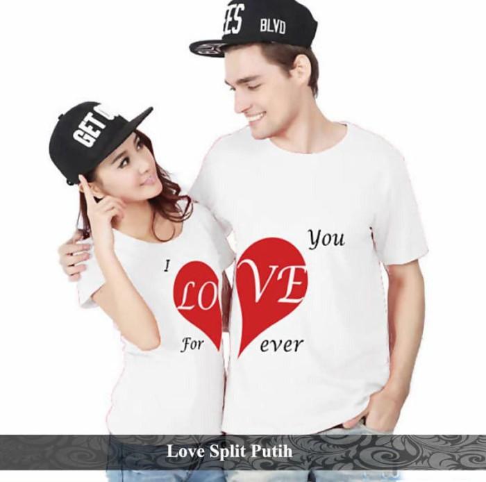 Foto Produk kaos couple   kaos katun   kaos branded   hati belah couple dari koleksi baju couple