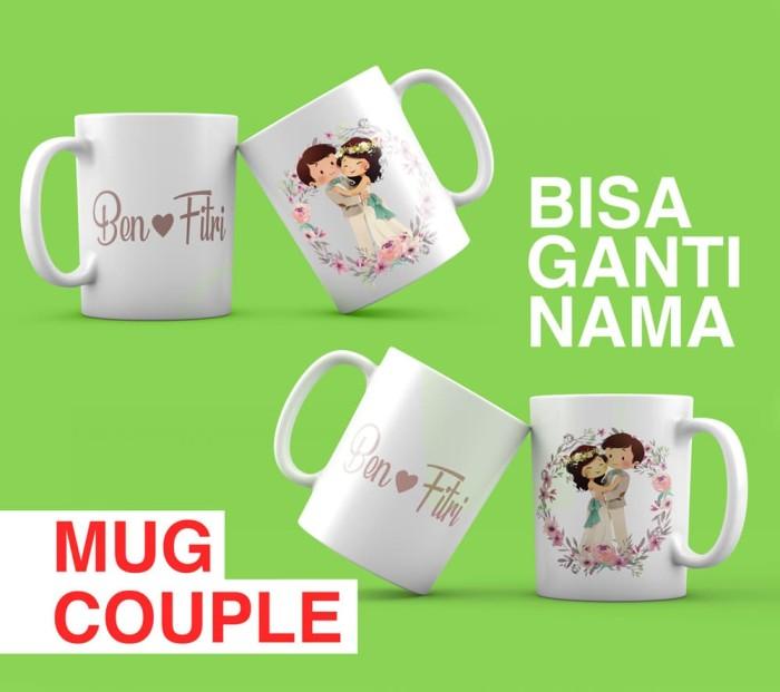 harga Mug couple custom wedding kado hadiah pasangan nikah ultah ulang tahun Tokopedia.com