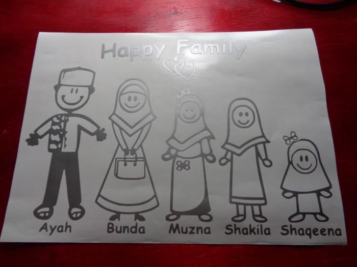 Jual Sticker Mobil Stiker Family Muslim Keluarga Muslim Perak Kab Garut Vgame Shop Tokopedia