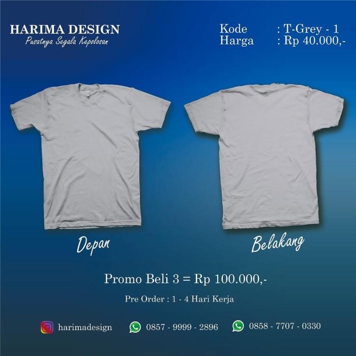 Jual Kaos Polos Merah Abu Abu Muda S Kab Semarang Harima Design Tokopedia