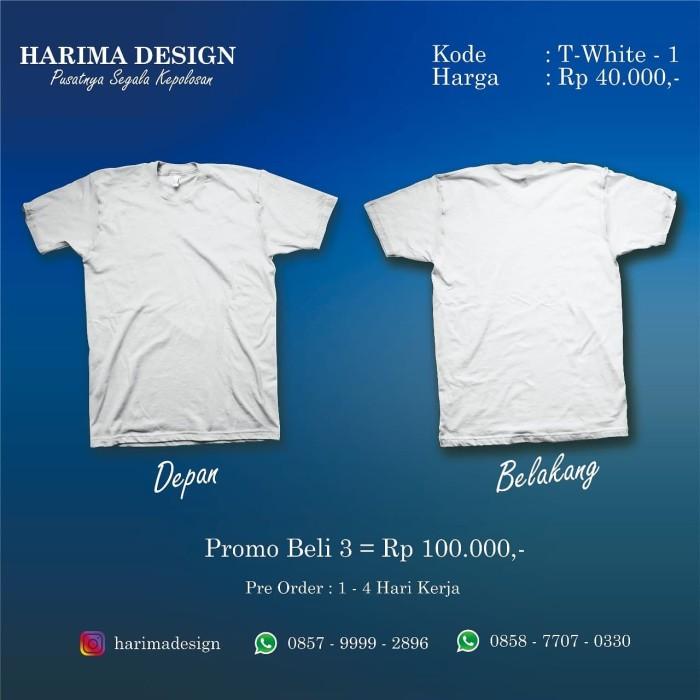 Jual Kaos Polos Abu Abu Putih Xl Kab Semarang Harima Design Tokopedia