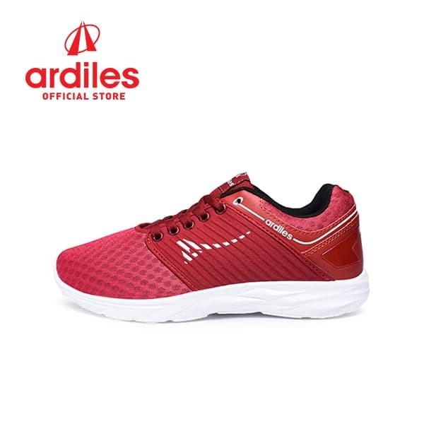 Ardiles men soba sepatu sneakers - merah maroon - merah maroon 41