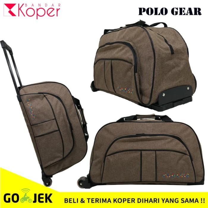 harga Tas koper kabin travel bag trolley polo gear original 8827 brown Tokopedia.com