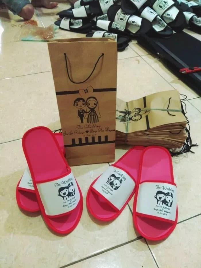 f788d8adb84ba6 Souvenir pernikahan sovenir sandal kemas paper-bag sandal sandal hotel