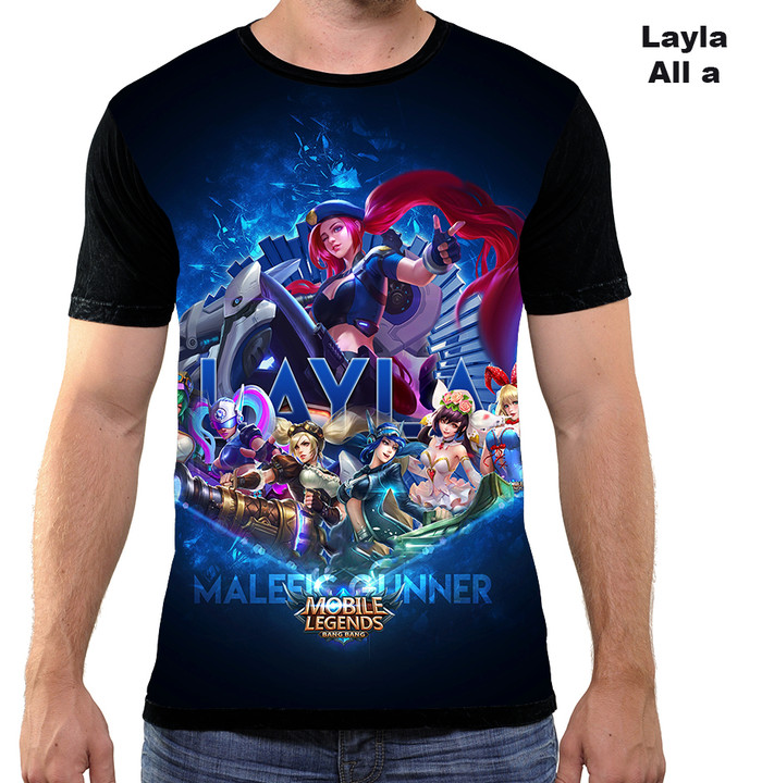 harga Layla all a kaos game mobile legend 3d fullprint Tokopedia.com