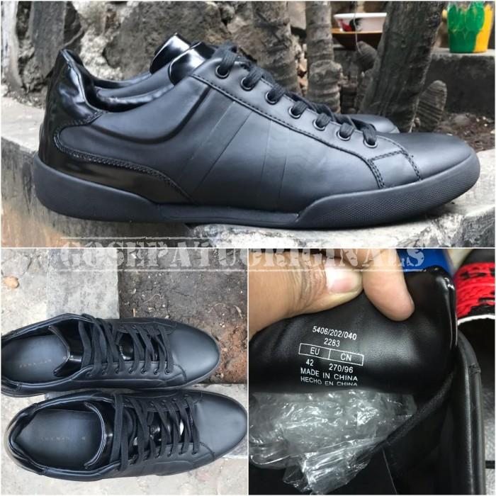 Jual Sepatu Zara Man Original Fullblack New Barang Langka