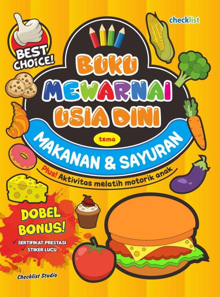 Jual Tema Makanan Sayuran Buku Mewarnai Usia Dini Kab Sleman