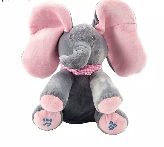 Foto Produk Boneka Gajah Peek A Boo / Kado Mainan Anak Perempuan Boneka Peek A Boo dari R&M Toys