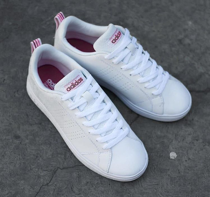 Jual Adidas Neo Advantage Original White Pink - Putih 96e3b188ff