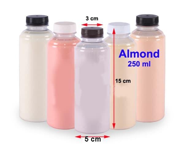 Botol Almond 250 ml Plastik PET Minuman Foodgrade Jus Susu 250ml OB009